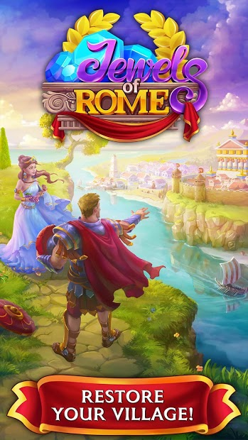 Jewels of Rome: Match gems to restore the city (Mod Money)
