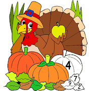 Thanks Giving Color by Number: Adult Coloring Book